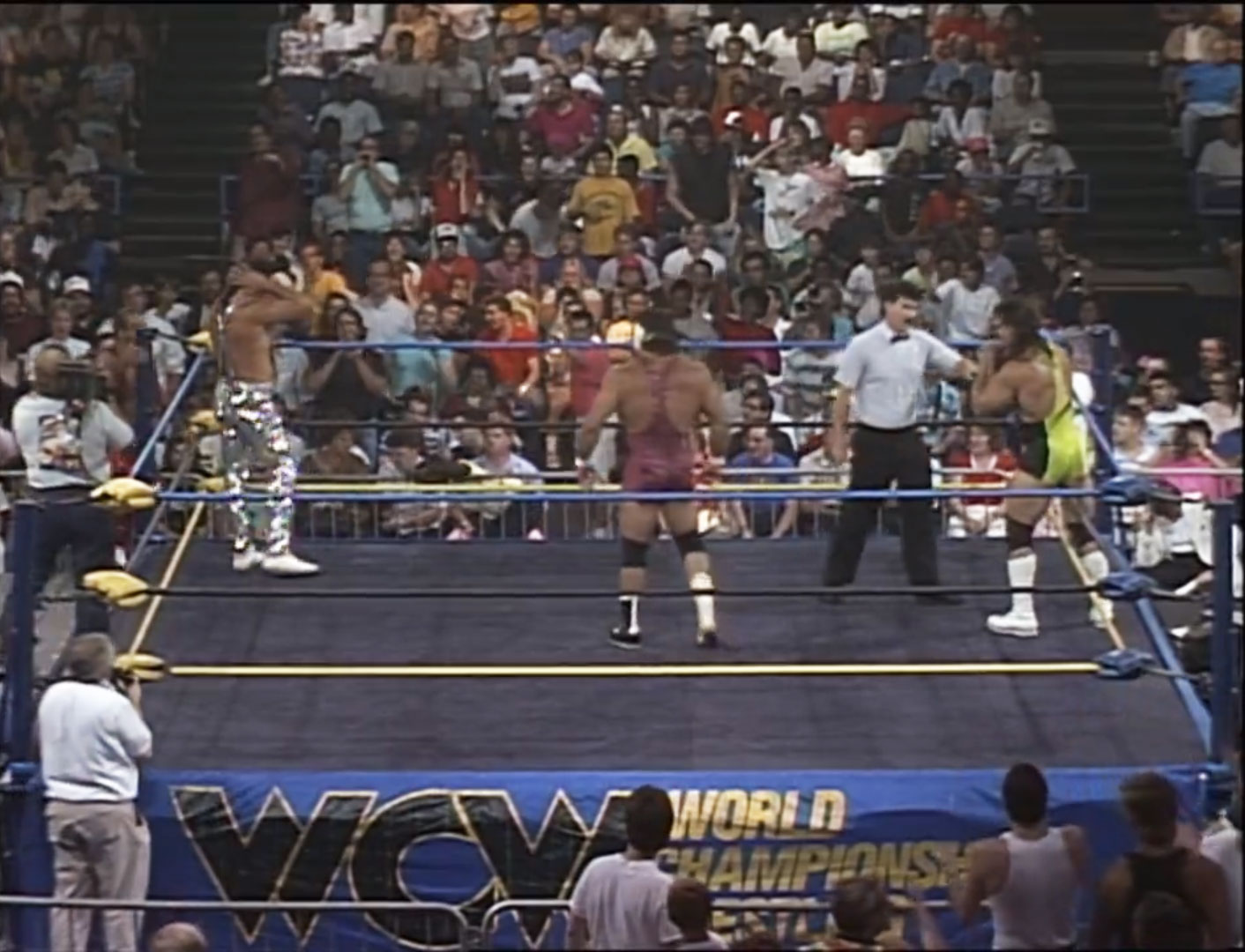 Steiner Brothers vs. Fabulous Freebirds NWA The Great American Bash '90 Jul 7th 1990