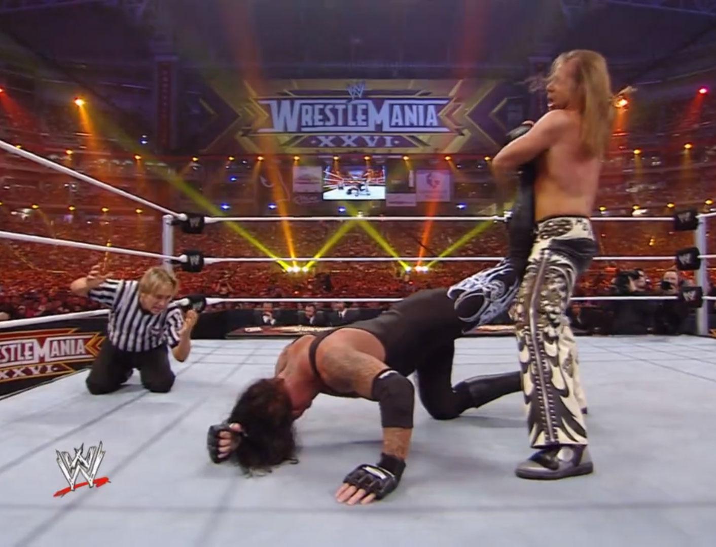 Undertaker vs. Shawn Michaels Career vs. The Streak Match WWE WrestleMania XXVI Mar 28th 2010