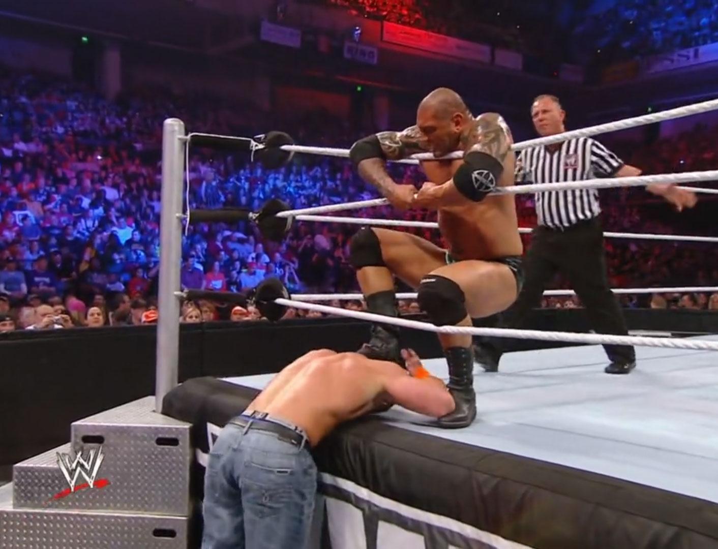 John Cena vs. Batista Last Man Standing WWE Extreme Rules '10 Apr 25th 2010