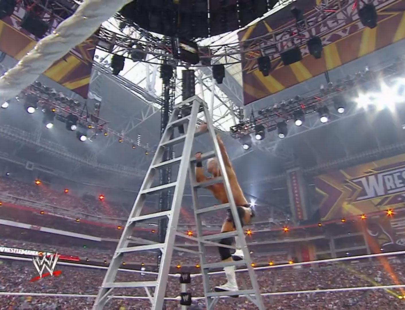 """Money In The Bank"" Ladder (10-Way) WWE WrestleMania XXVI Mar 28th 2010"