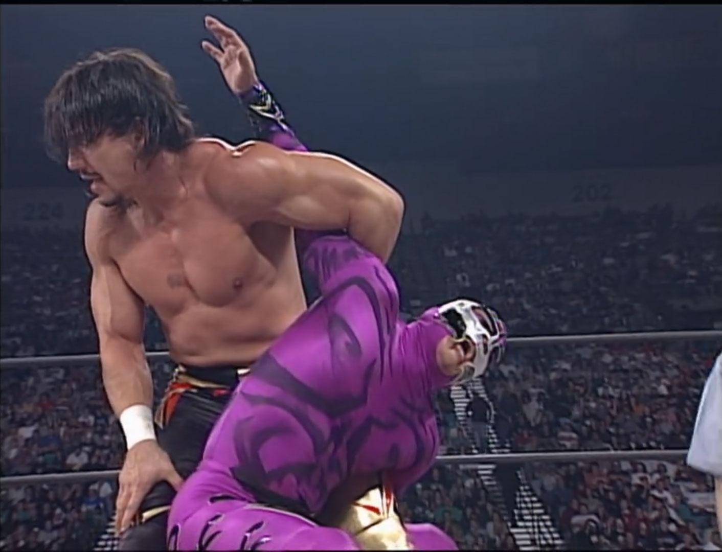 Rey Misterio, Jr. vs. Eddy Guerrero  Mask Vs. Title WCW Cruiserweight Championship,  WCW Halloween Havoc '97, Oct 26th 1997