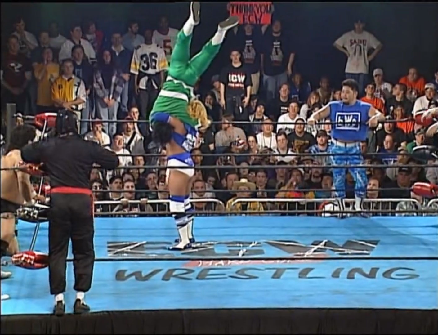Gran Hamada & Masato Yakushiji & The Great Sasuke vs. Dick Togo & TAKA Michinoku & Terry Boy 6-Person Tag, ECW Barley Legal  Apr 13th 1997