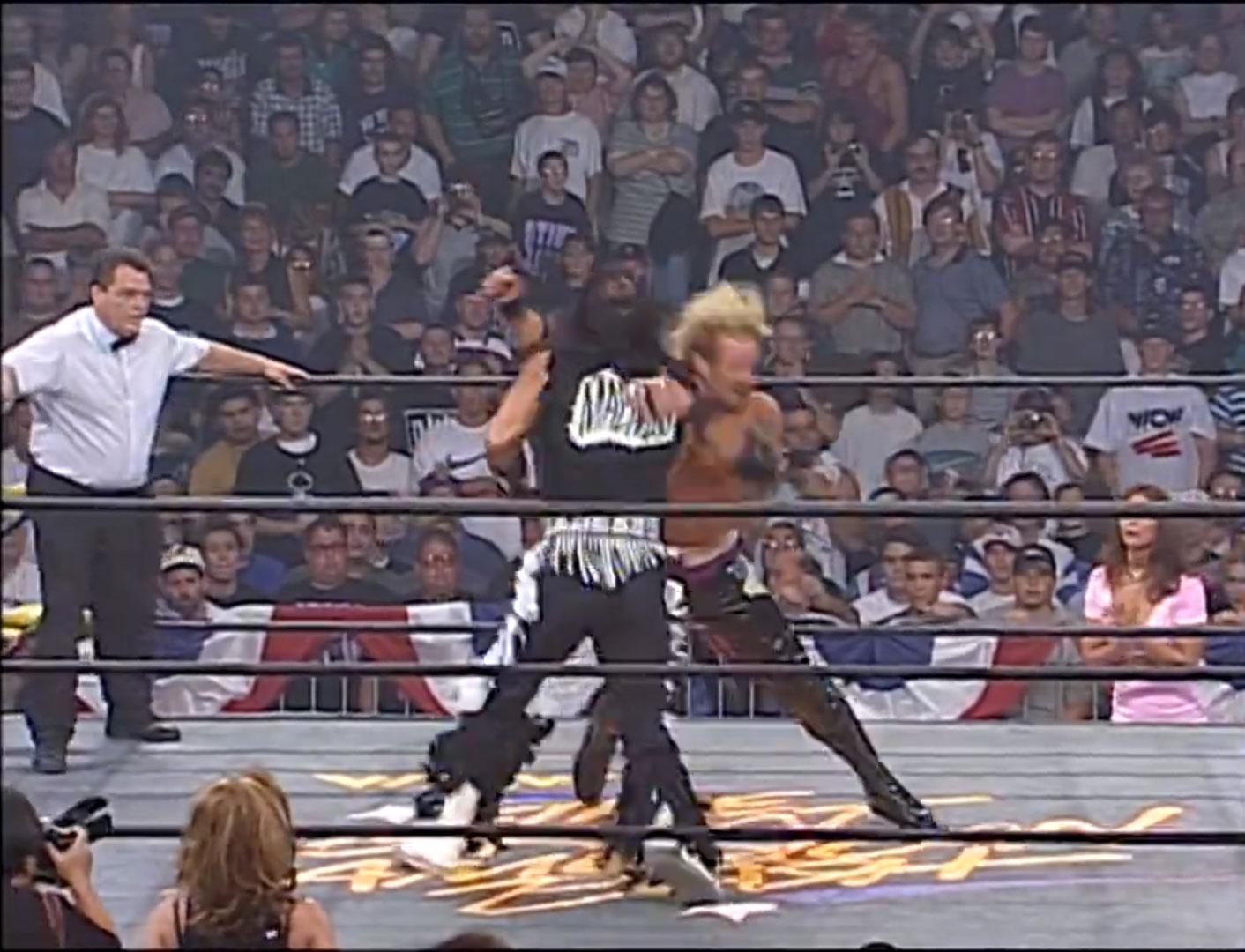 Randy Savage vs. Diamond Dallas Page Falls Count Anywhere WCW Great American Bash '97, Jun 15th 1997