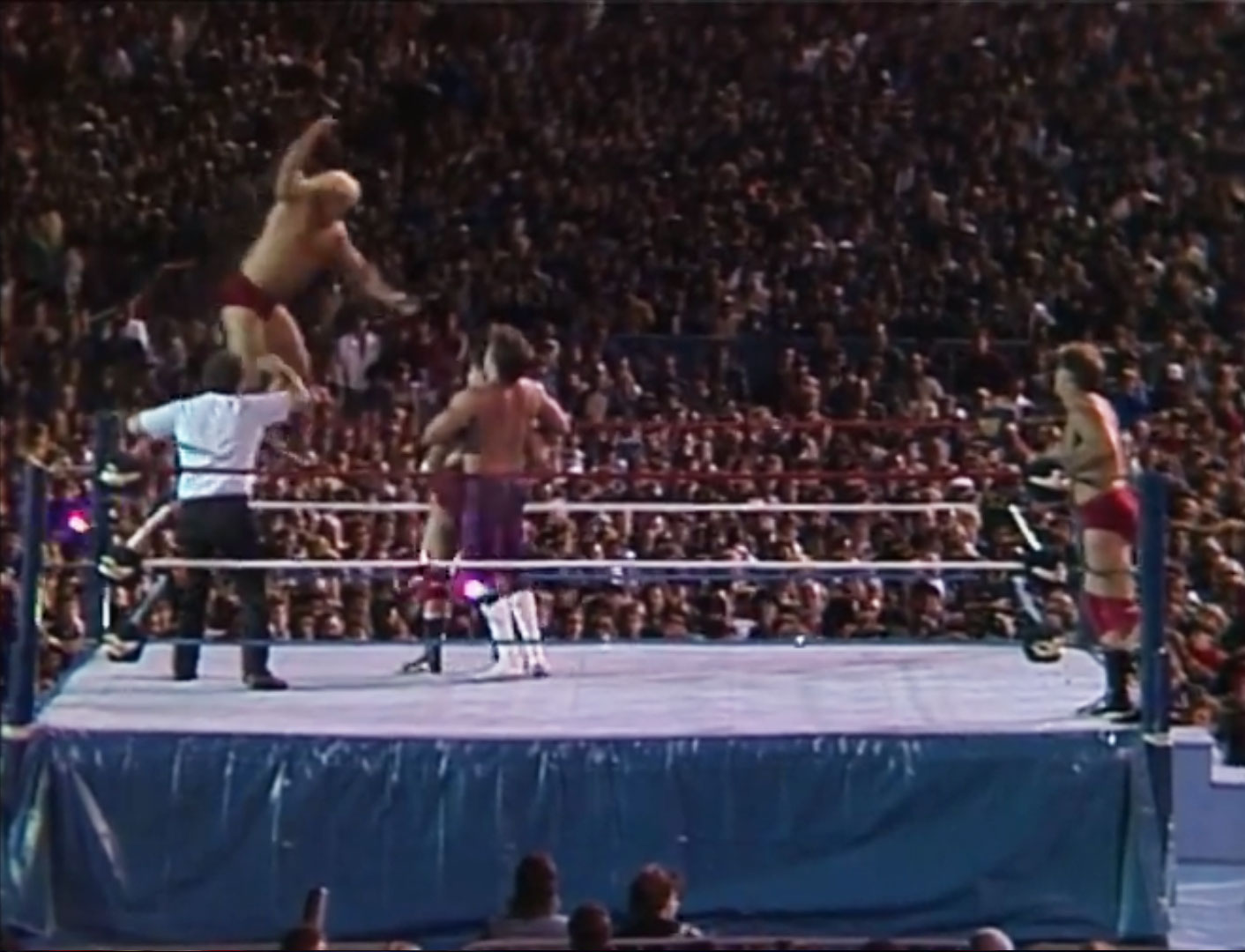 Rougeau Brothers vs. The Dream Team WWF The Big Event Aug 28th 1986
