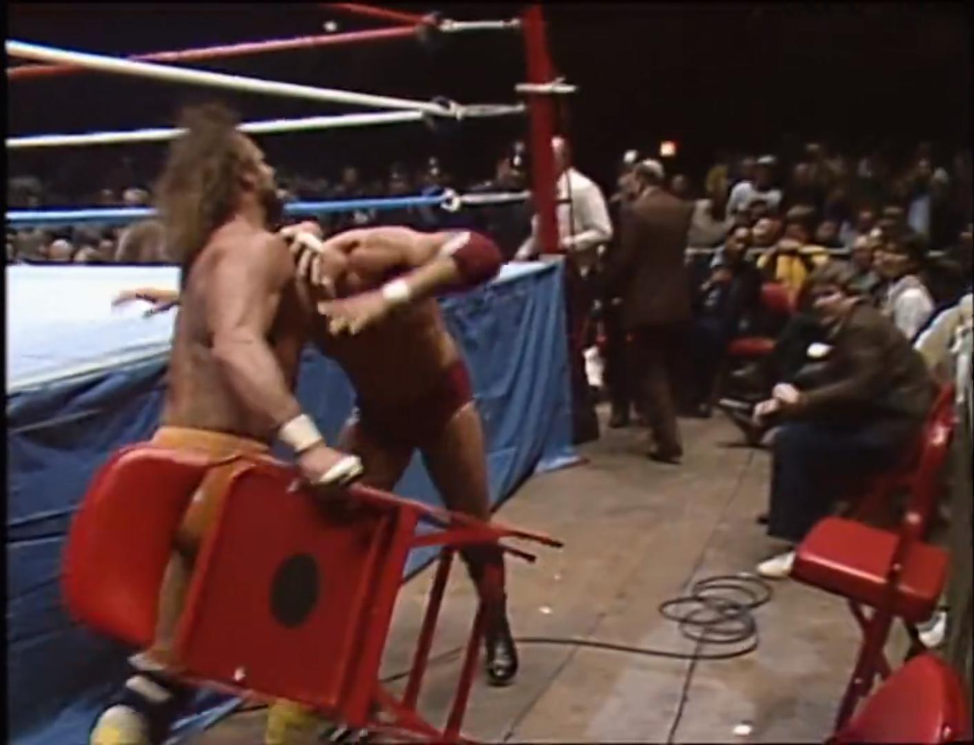 "Tito Santana vs. Randy ""The Macho Man"" Savage NO DQ, WWF Intercontinental Championship Recorded Apr 22nd 1986"