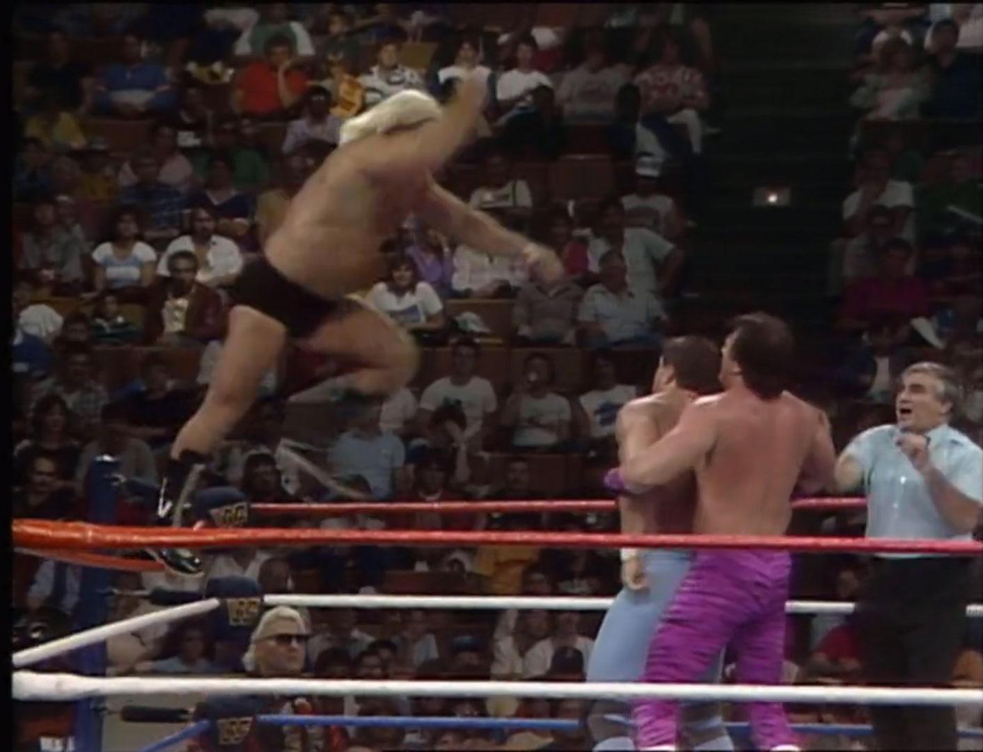 The Dream Team vs. The British Bulldog 2/3 Falls, WWF Saturday Night's Main Event October 4th, 1986