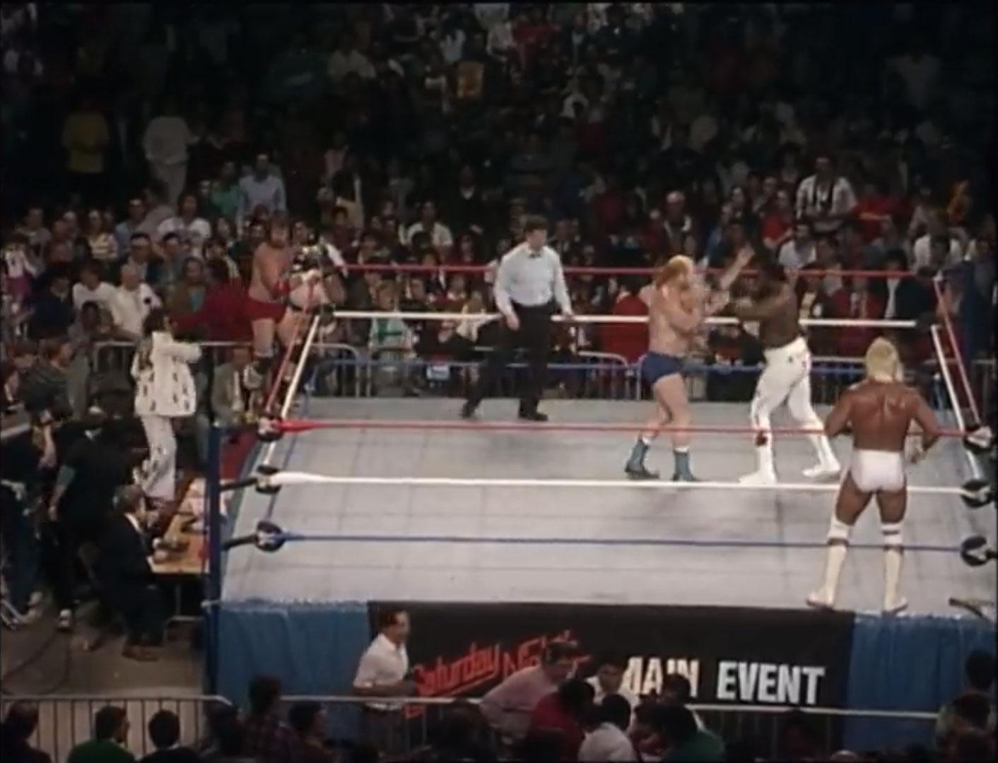 Hulk Hogan & The Junkyard Dog vs. Terry & Hoss Funk Saturday Night's Main Event May 3rd 1986