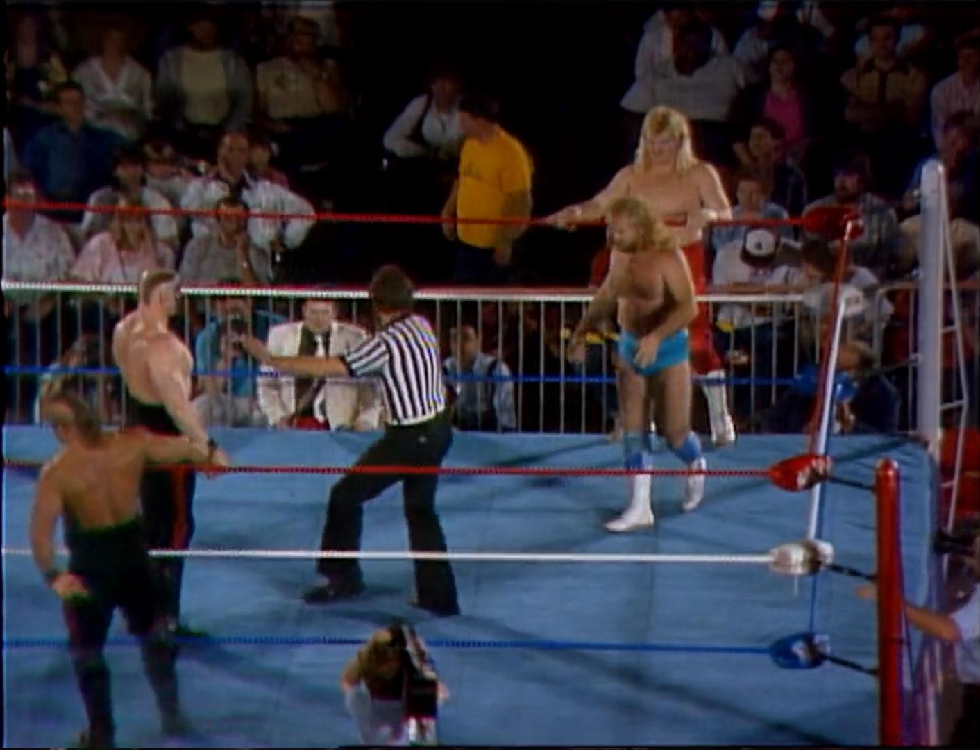 The Road Warriors vs. Midnight Express NWA Crockett Cup '86 Apr 19th 1986