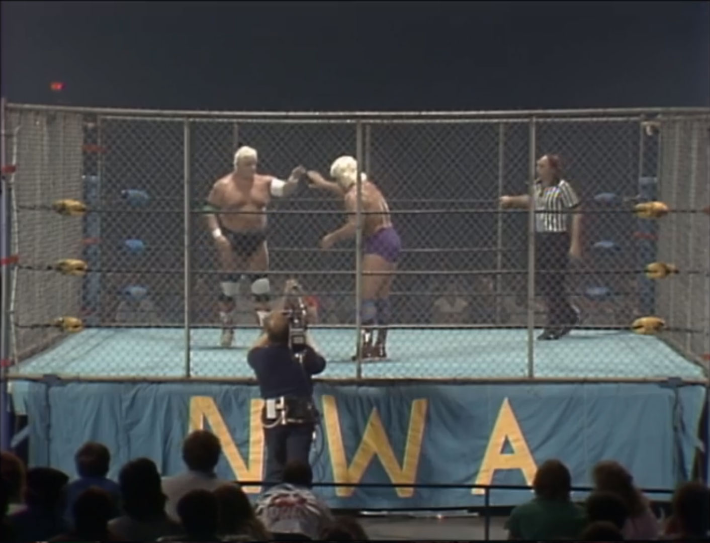 Dusty Rhodes vs Ric Flair Steel Cage, NWA World Heavyweight Championship July 26th 1986
