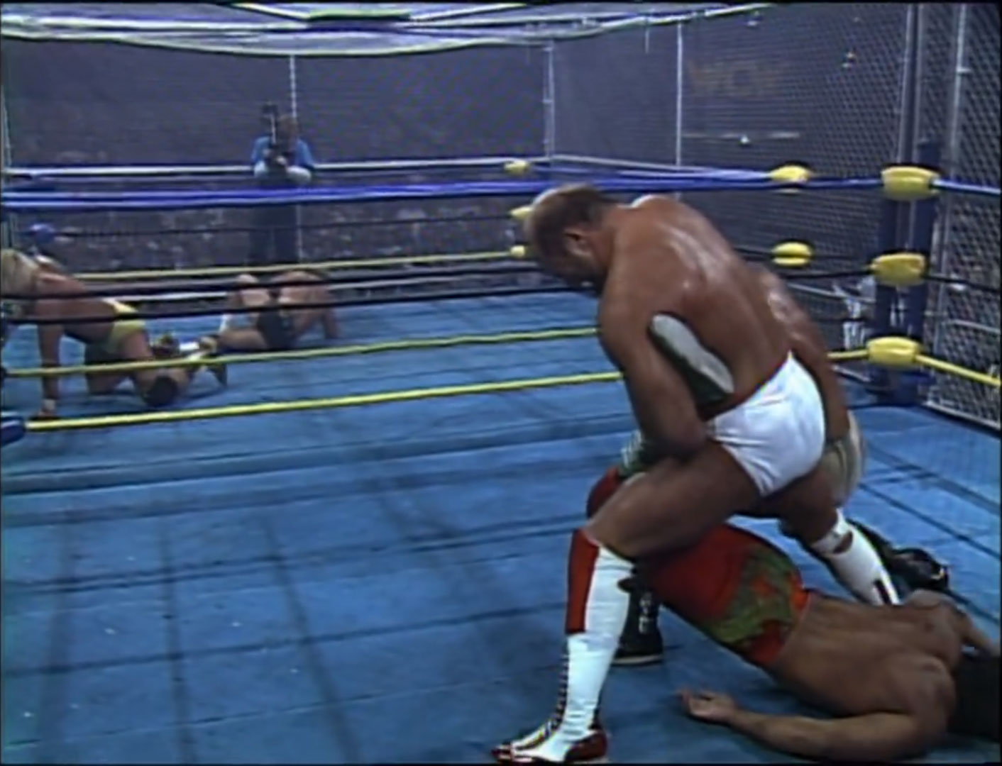 The Dangerous Alliance vs. Sting's Squadron  War Games WCW WrestleWar '92, May 17th 1992