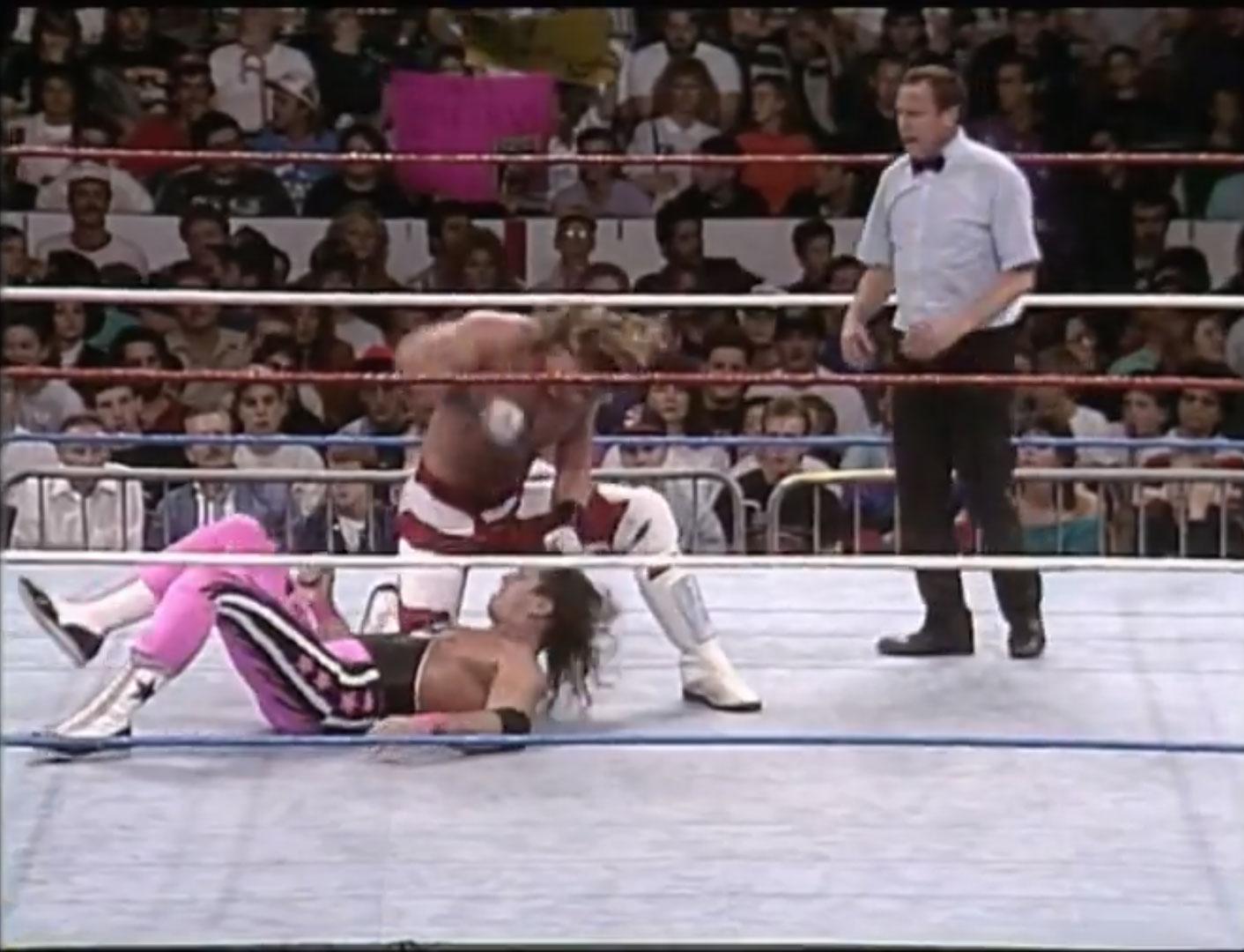 Bret Hart vs. Shawn Michaels WWF World Heavyweight Championship WWF Survivor Series '92, Nov 25th 1992