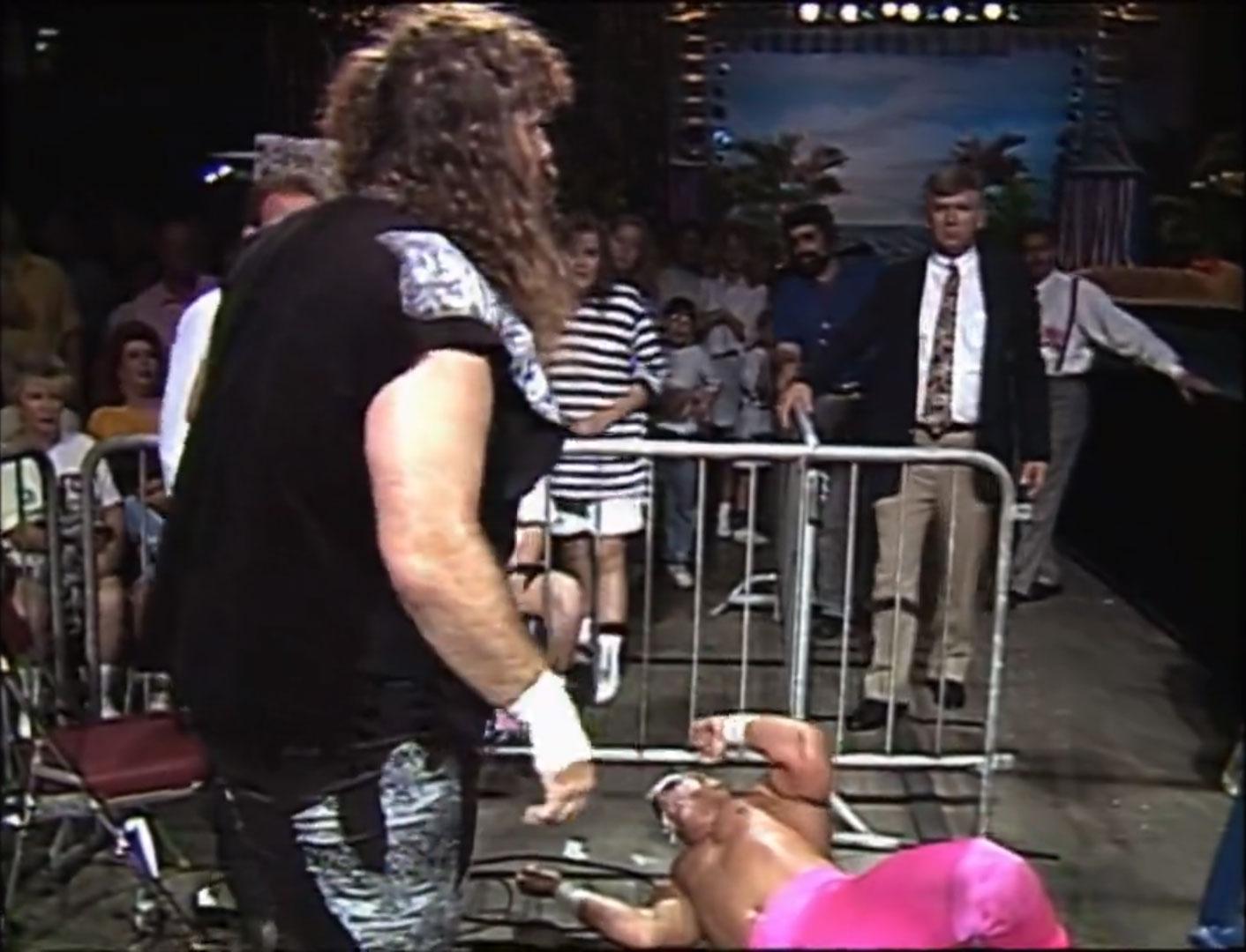 Sting vs. Cactus Jack Falls Count Anywhere WCW Beach Blast '92, Jun 20th 1992