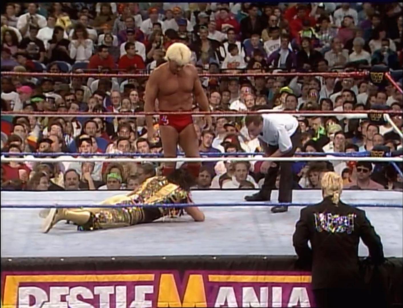 Randy Savage vs. Ric Flair WWF World Heavyweight Championship WWF WrestleMania VIII, Apr 5th 1992