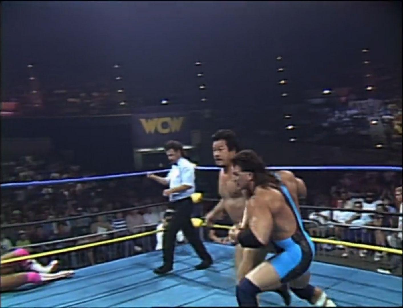 Steiner Brothers vs. Takayuki Iizuka & Tatsumi Fujinami WCW World Tag Team Championship WCW WrestleWar '92, May 17th 1992
