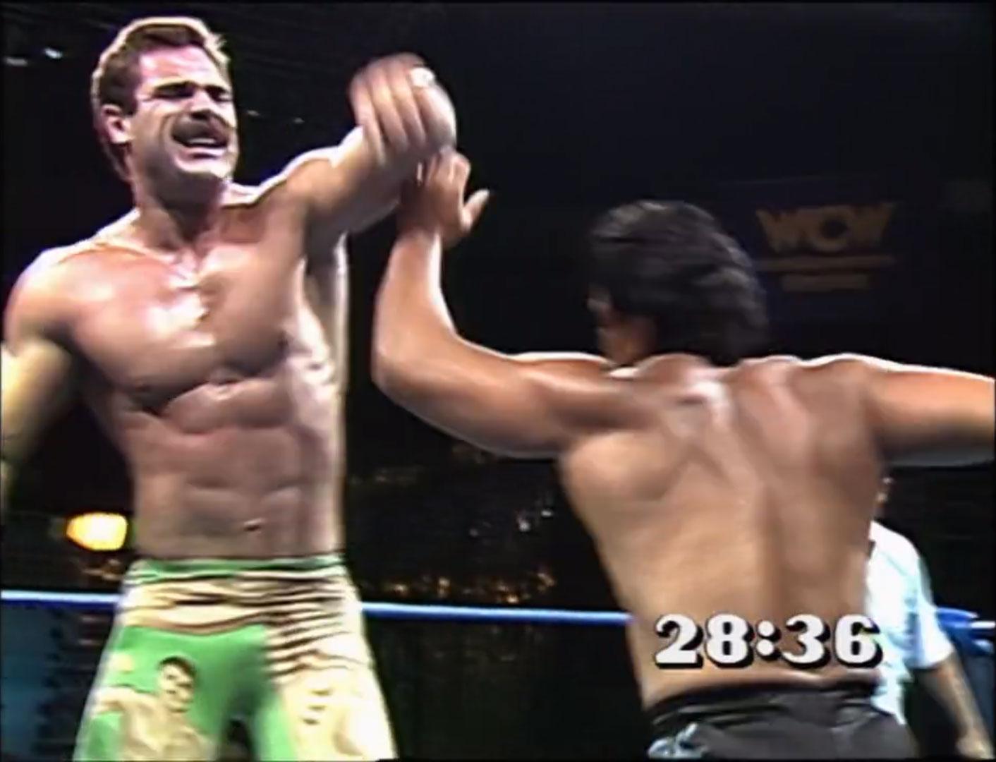 Ricky Steamboat vs. Rick Rude 30 Minute Iron-man Match WCW Beach Blast '92 Jun 20th 1992
