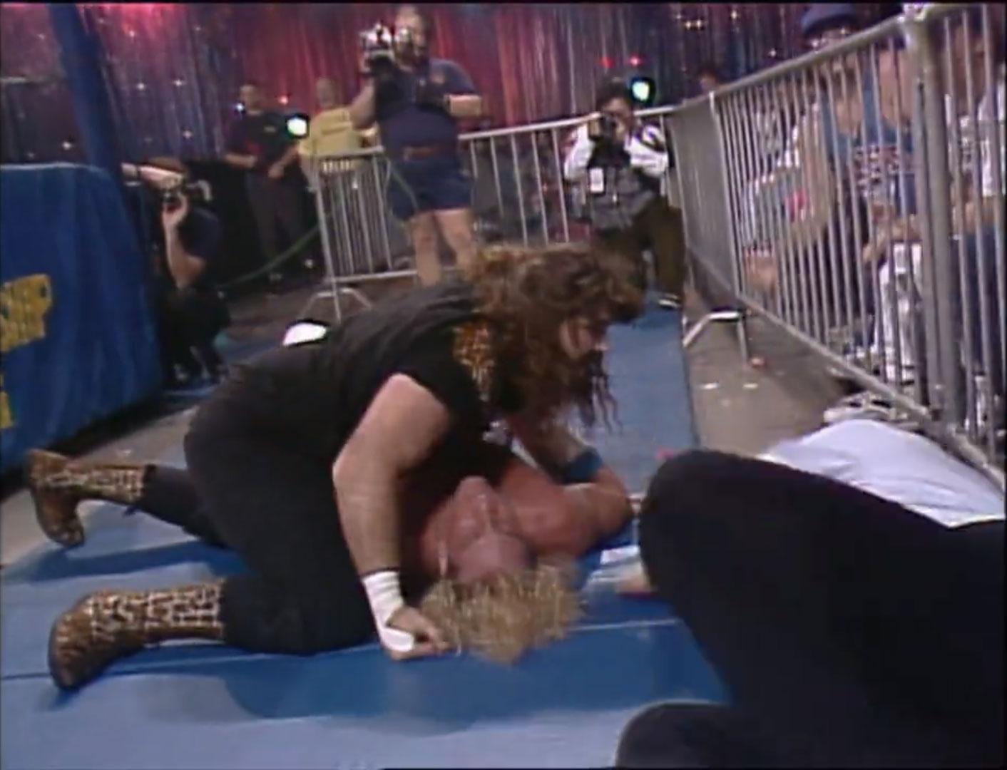 Cactus Jack vs. Van Hammer Falls Count Anywhere WCW Clash of the Champions XVIII, Jan 21st 1992
