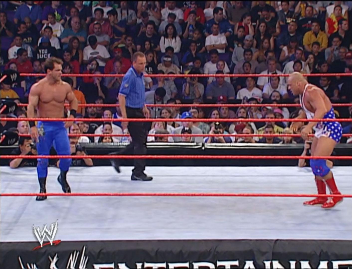 Chris Benoit vs. Kurt Angle WWE Unforgiven '02, Sep 22nd 2002