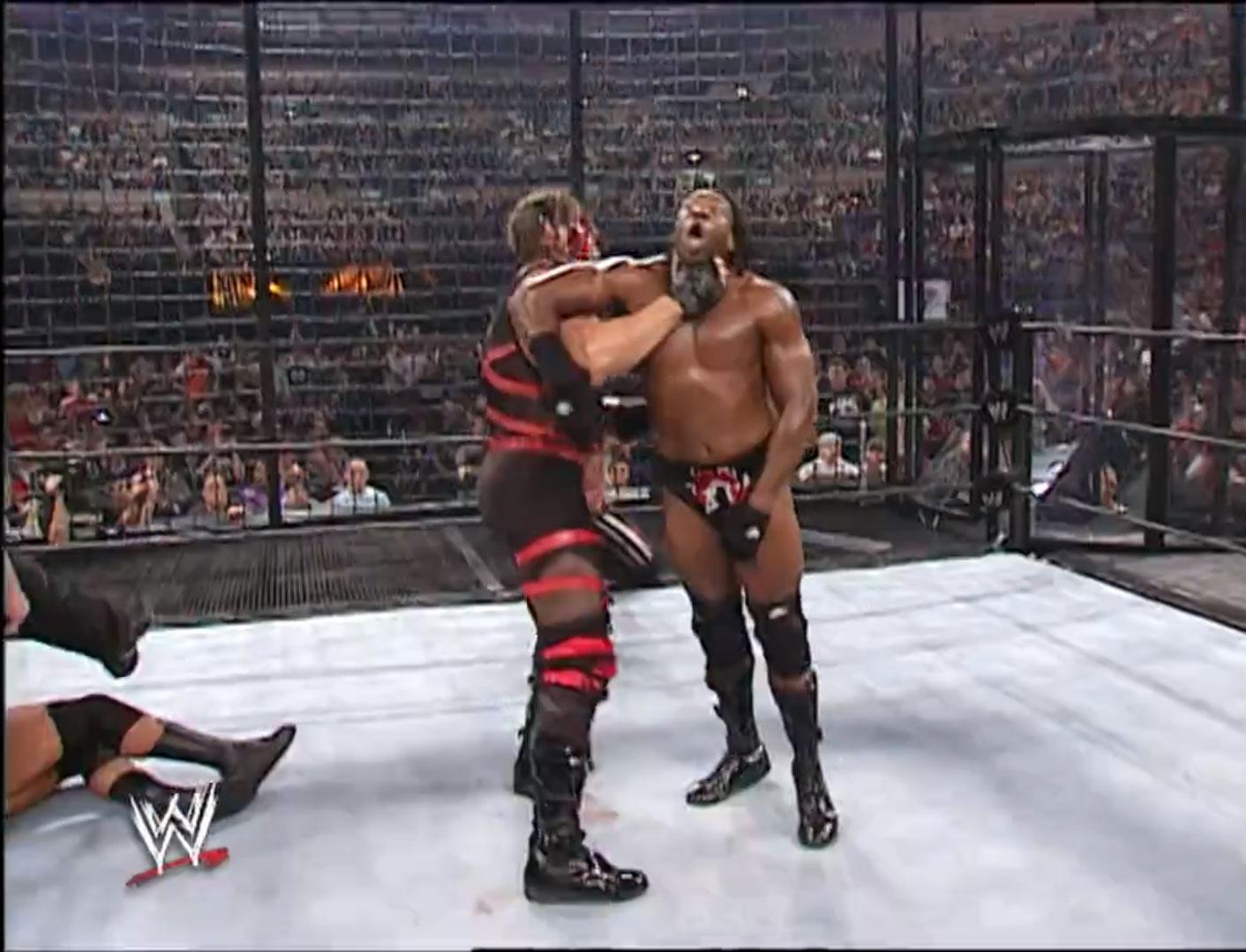 Booker T. vs. Chris Jericho vs. Kane vs. Rob Van Dam vs. Triple H Elimination Chamber, WWE World Heavyweight Championship Survivor Series '02, Nov 17th 2002