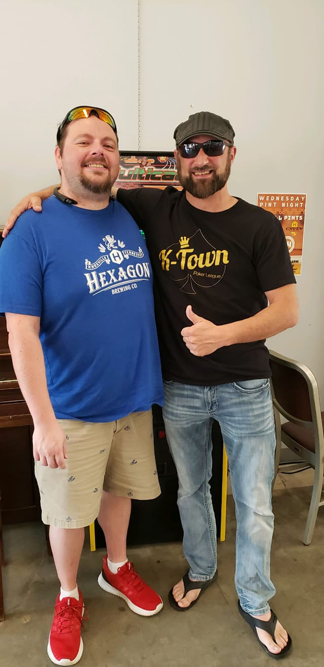 Congratulations to our May player of the month, Matt Blakeman. He has been a loyal K-Town poker league member for several years. He is a two time sponsor. He is a great poker player AND dealer. He adds so much to our games week in and week out, thank you Matt for being a part of this league and for all that you do!