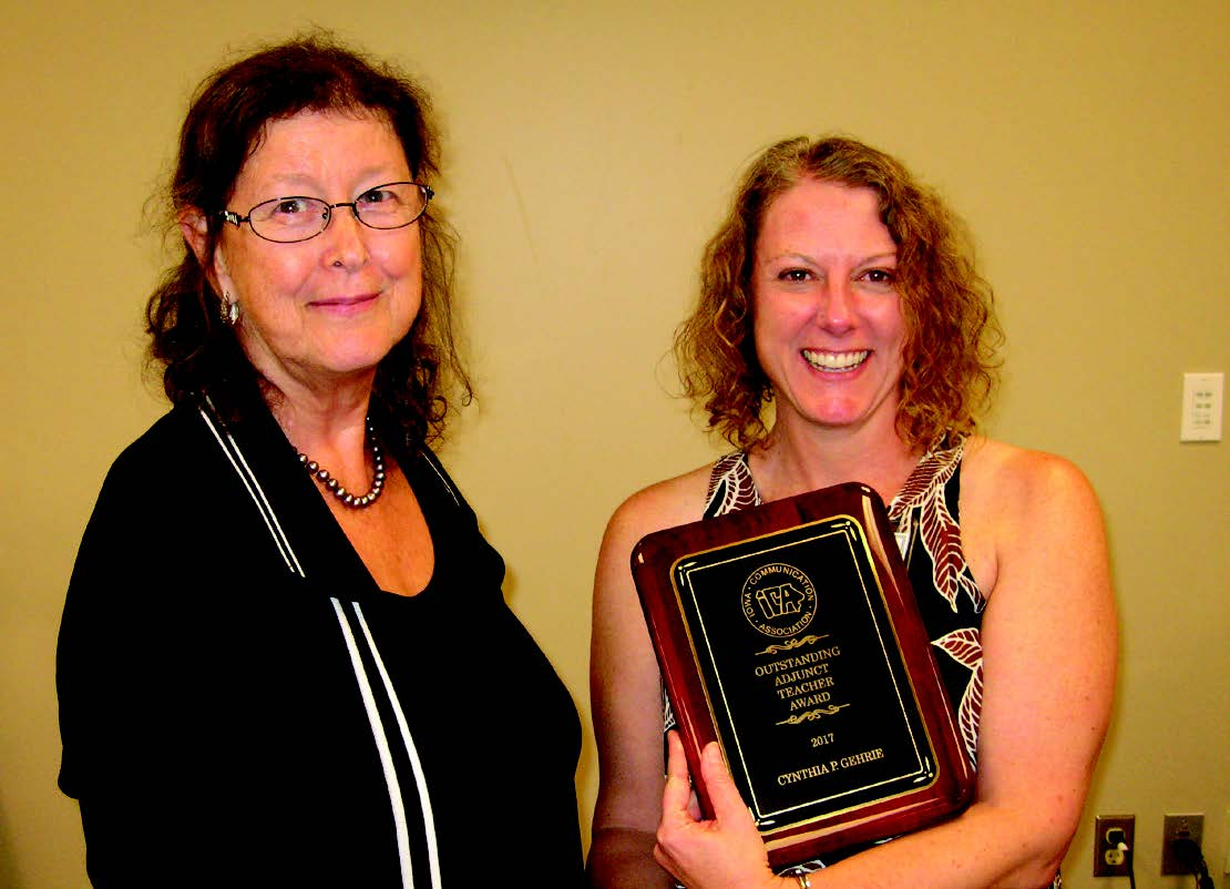 2017 Award Recipient Cynthia GehriE and ICA President Elect Linda Laine.