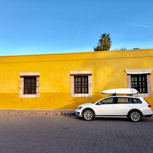 Not afraid to use color in Loreto, Baja Sur. #vwalltrak @photoshootbaja #girlroadtrip #soloexplorer