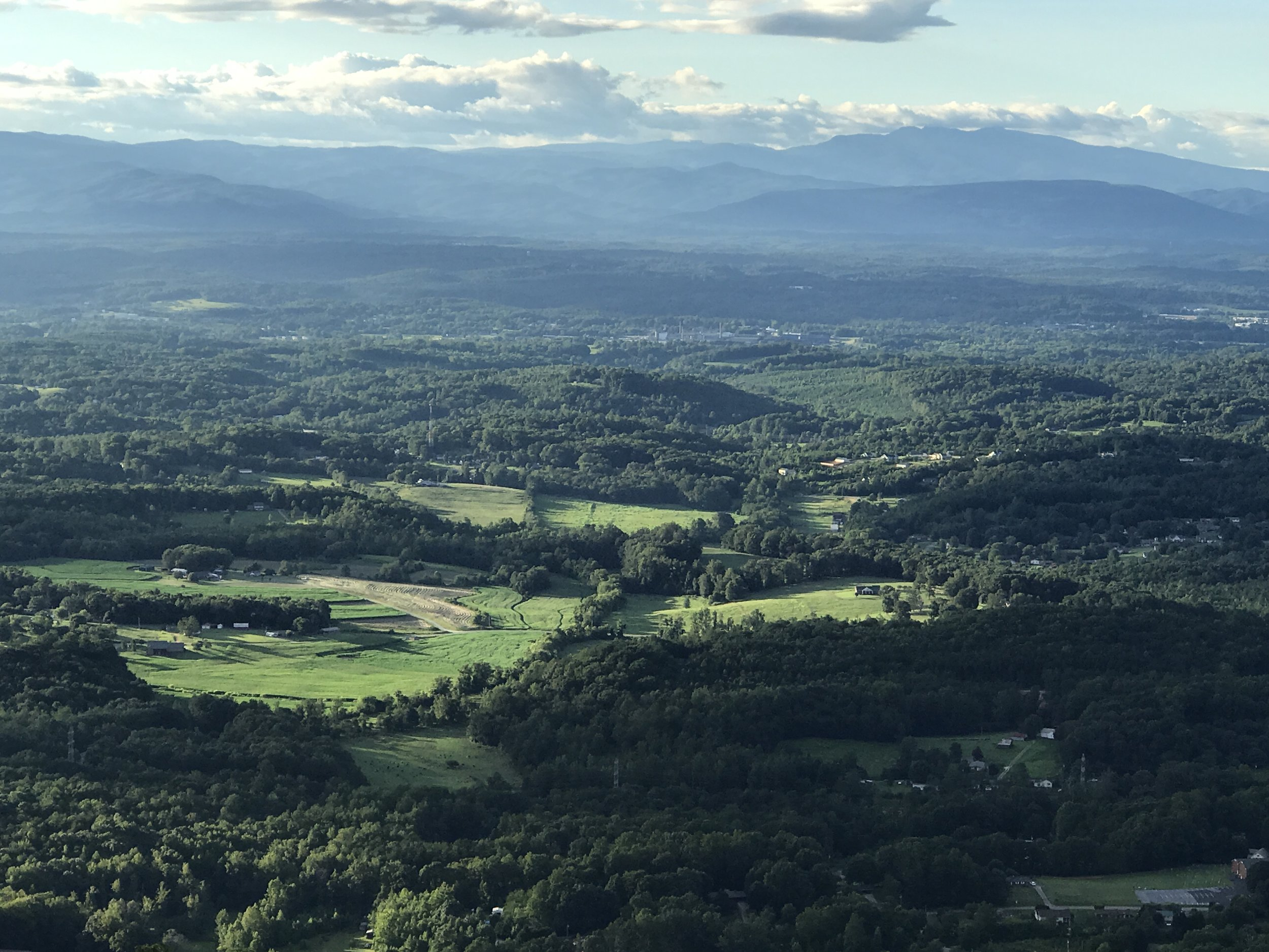 Valley and Grandfather Mountain in the distance.