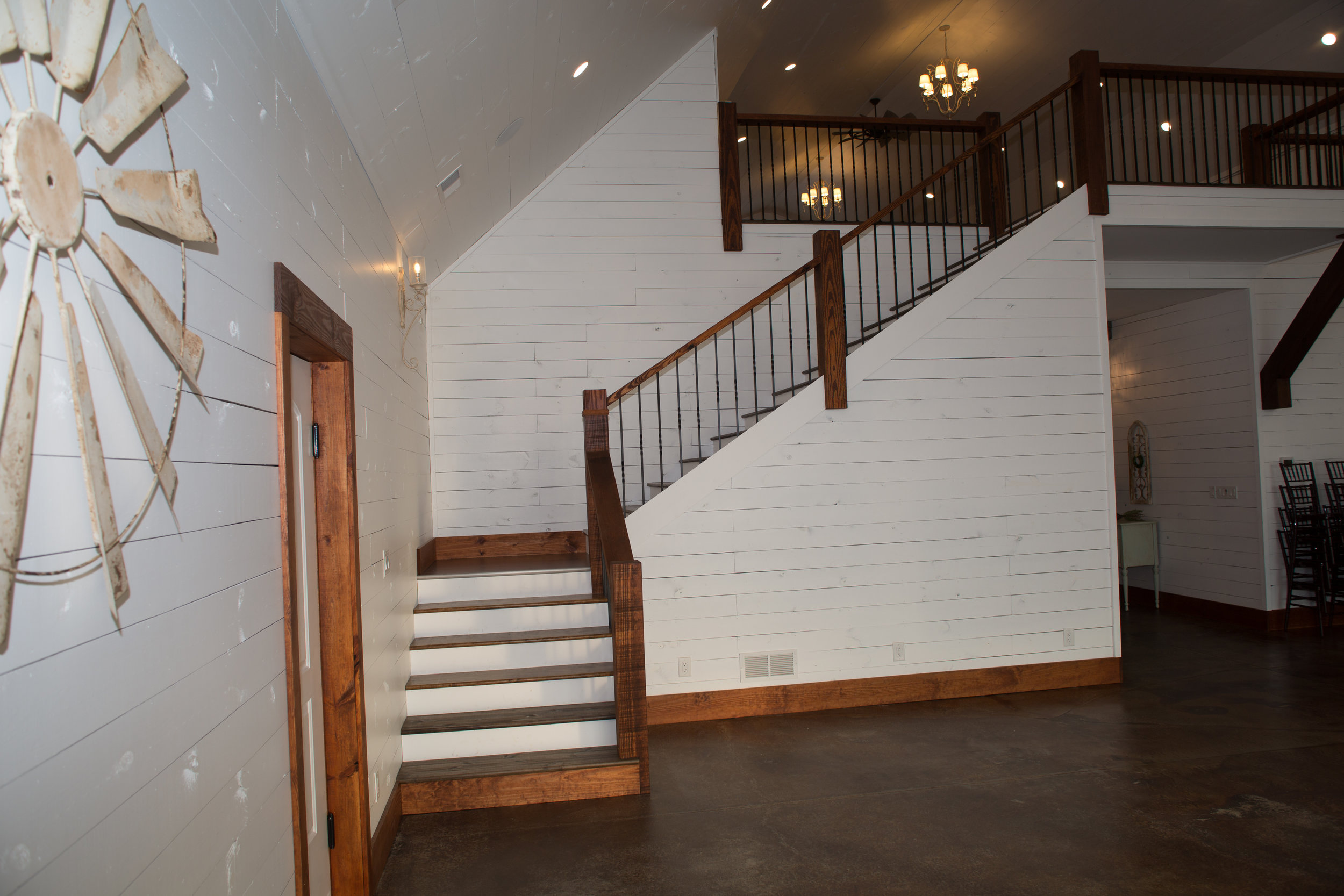 Stairway to open loft.