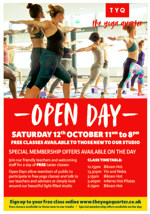 Come and join us for a day of free taster classes at our state of the art yoga studio in London. We'll have a day of classes for all abilities, plus the opportunity to have a look around our studio or speak to our teachers. Click the button above to book your free class today. -
