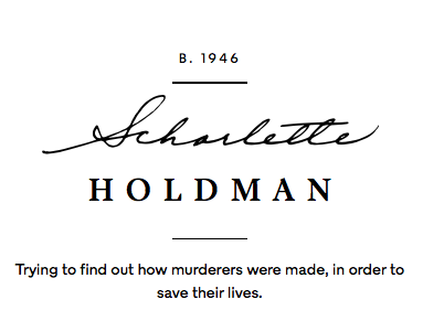 scharlette holdman:the lives they lived - New York Times Magazine