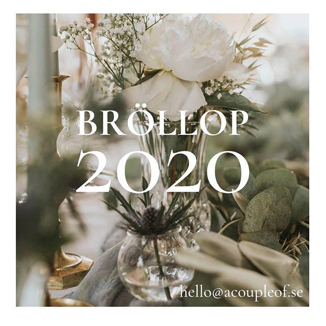 Nu är planeringen för bröllopssäsongen 2020 i full gång! Ska du eller någon du känner gifta sig nästa år? Om ja, låt vår kreativitet gå lös genom att skräddarsy ett koncept för er som appliceras på varje liten detalj av bröllopet. In på hemsidan för att läsa mer eller släng iväg ett mejl till hello@acoupleof.se 👋🏼 ________________________________ #bröllop #bröllopsdetaljer #bröllop2020 #weddingdetails #swedishwedding #weddingsofsweden #wedding #weddinginspo #weddingdetails #2020weddings #wedding2020