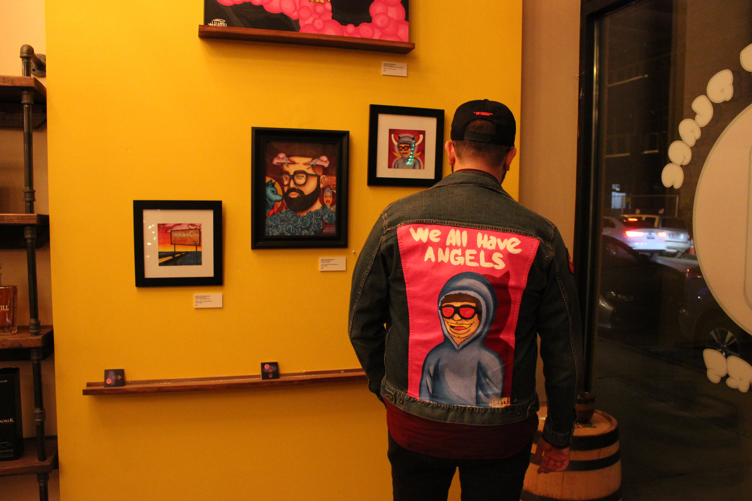 """Another shot taken at my solo exhibition, """"Sorry for the Night Demons"""" [Feb 2019]."""