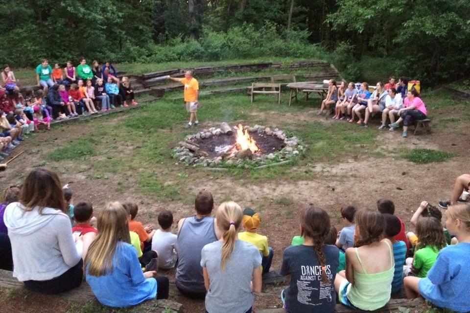 Clover Woods Camp & Retreat Center Iowa_Fire Ring at Hickory Lodge.jpg