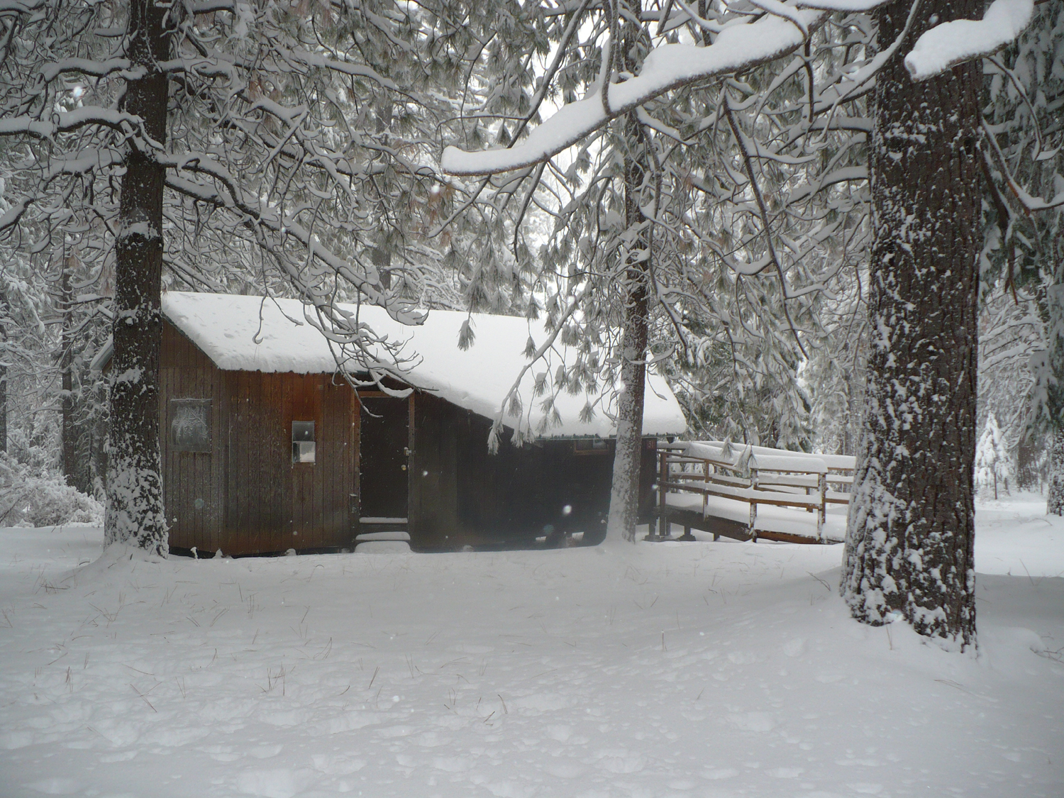 Cabins are winterized with heaters