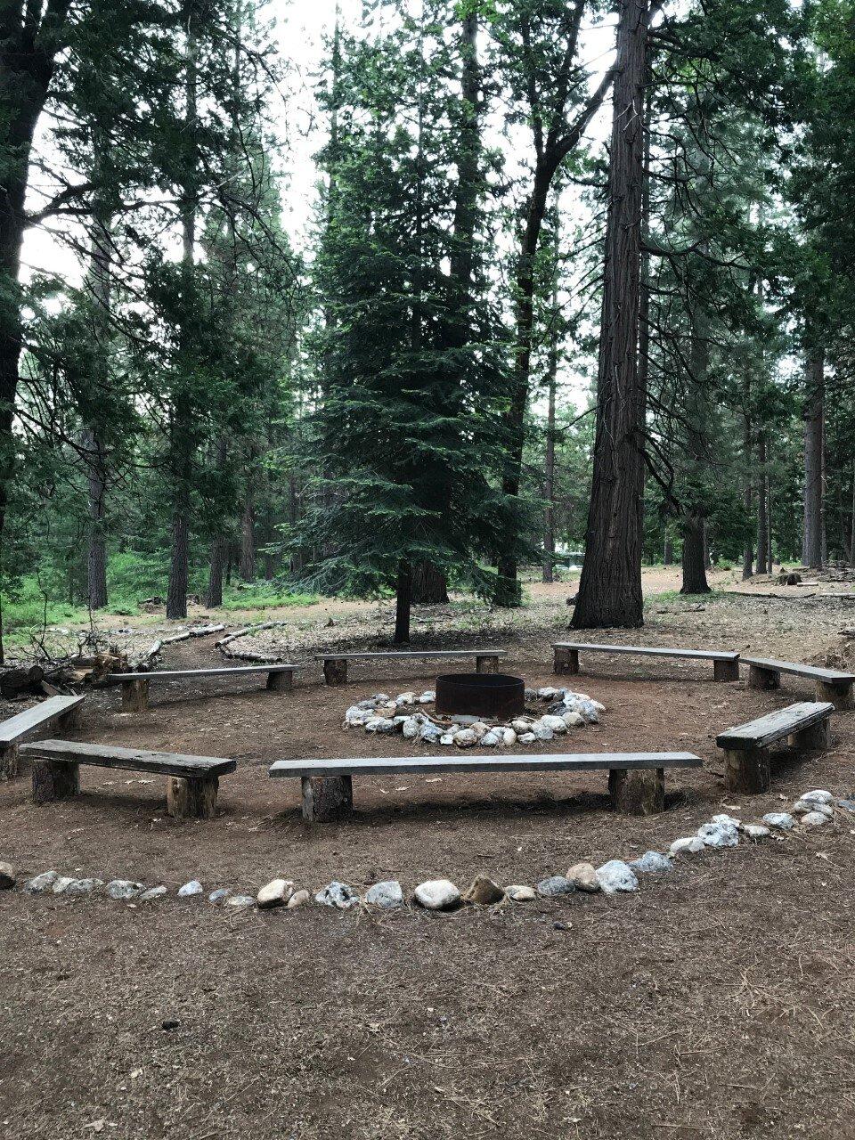 Summer Cabin Fire Circle