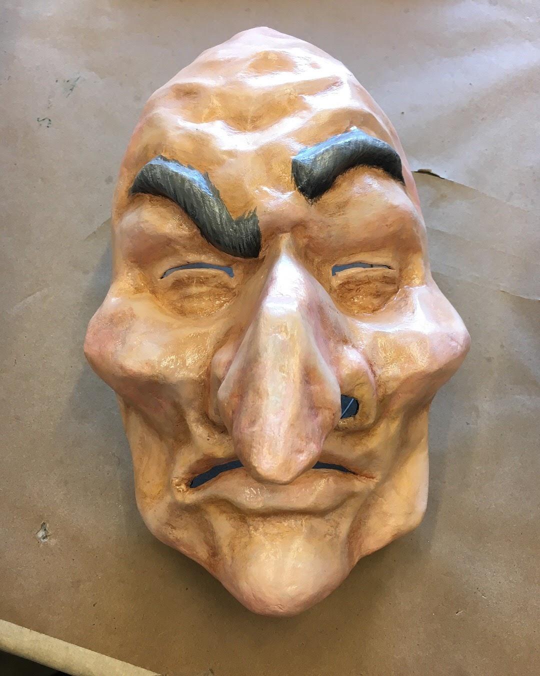 Craftsperson  Paper Mache Mask  Designer - Tessa Barlotta
