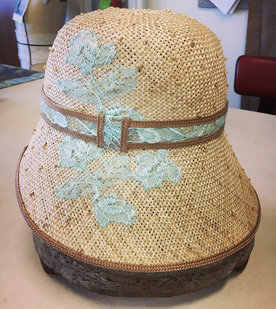Milliner  Blocked Straw Bonnet  Designer - Tessa Barlotta