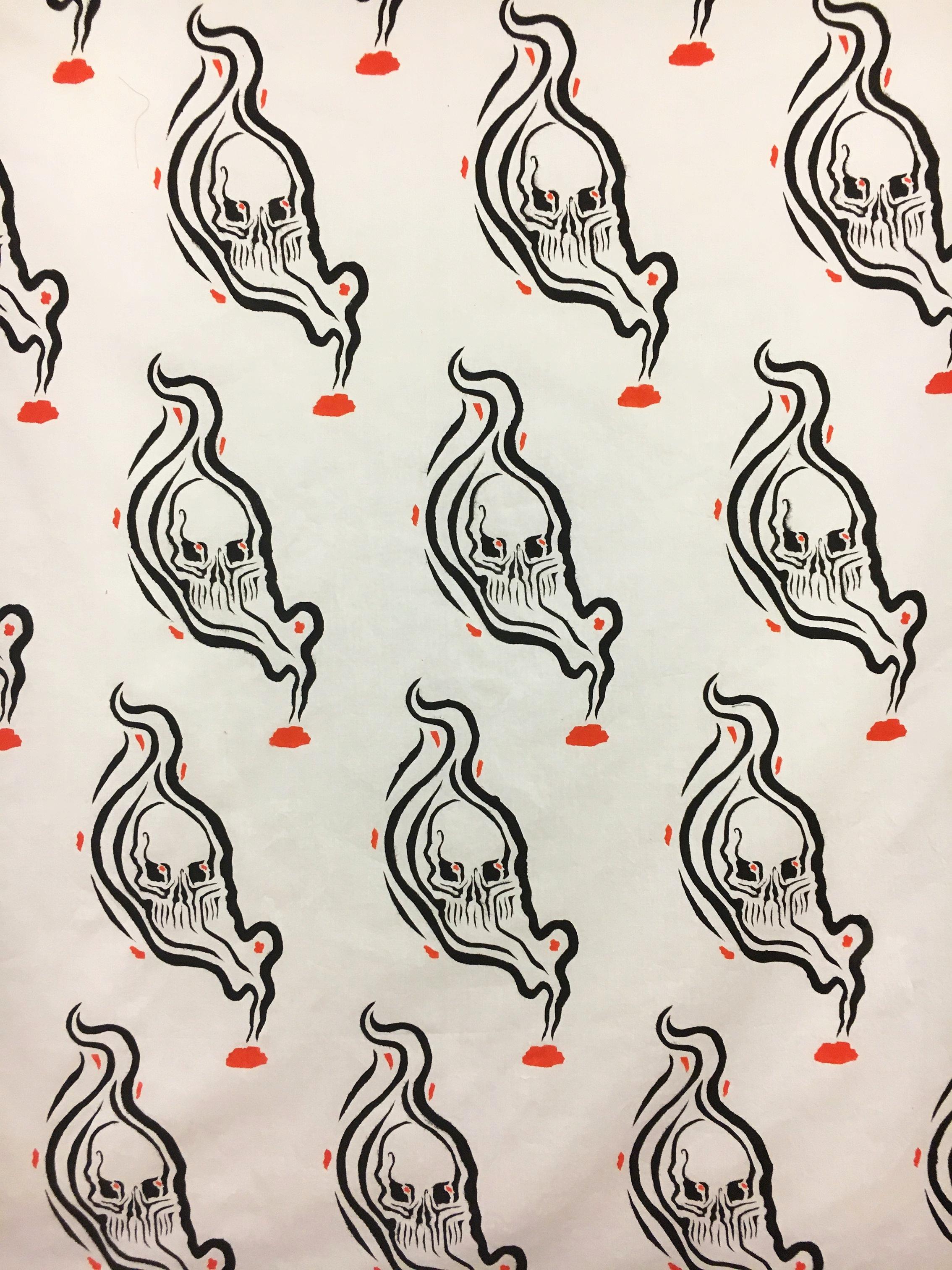 Dyer/Painter  Stenciled Registered Yardage  Designer - Tessa Barlotta