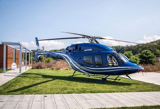 Great shot of the #Bell429 from @TheBridge.Hamptons! Contact us for more information on how we can protect you from any aviation-related risks!