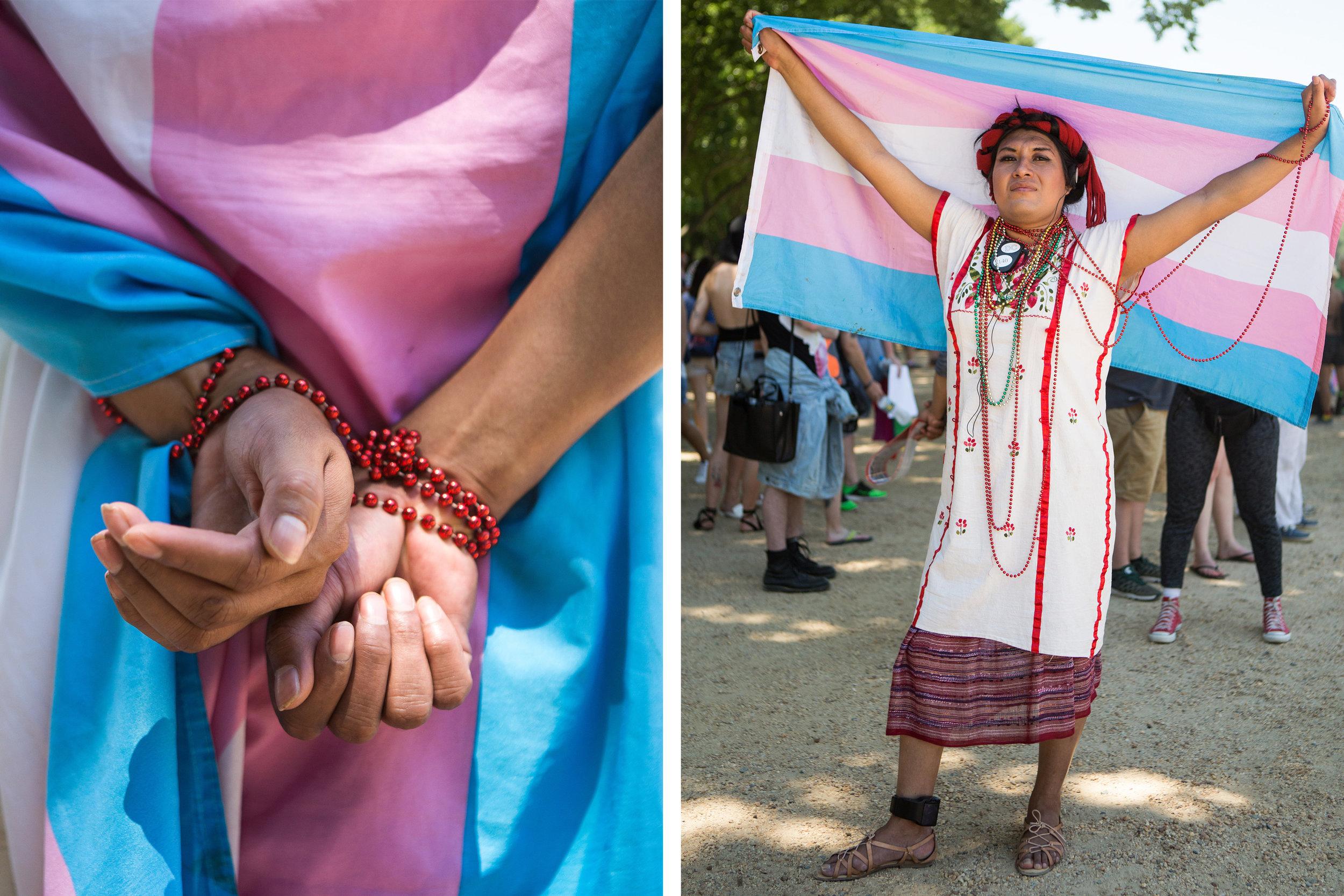 Estrellia Sanchez, a transgender woman from Atlanta.  (Liam James Doyle/NPR)