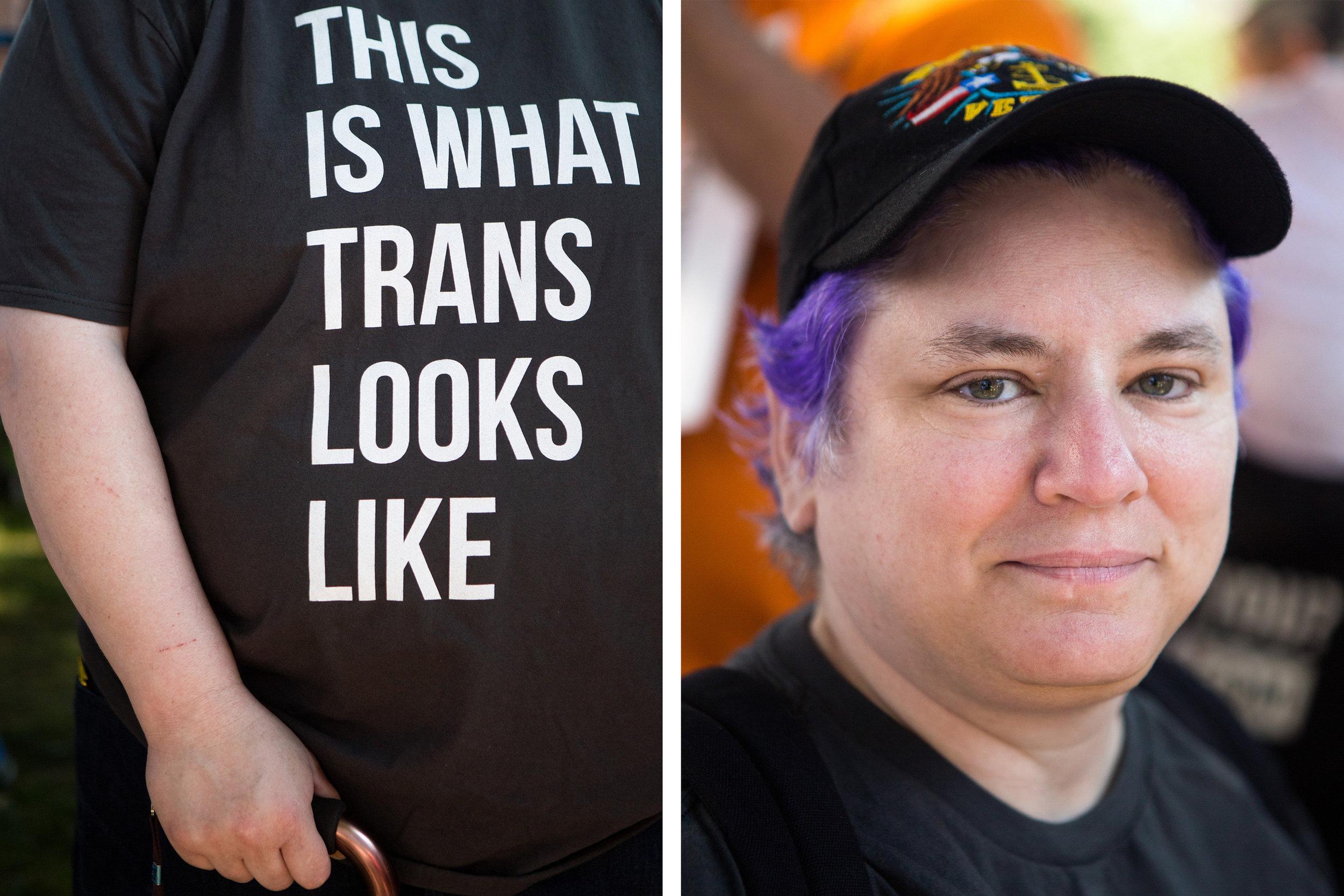 Reg Franchi, a transgender gay man from Los Angeles, Calif.  (Liam James Doyle/NPR)