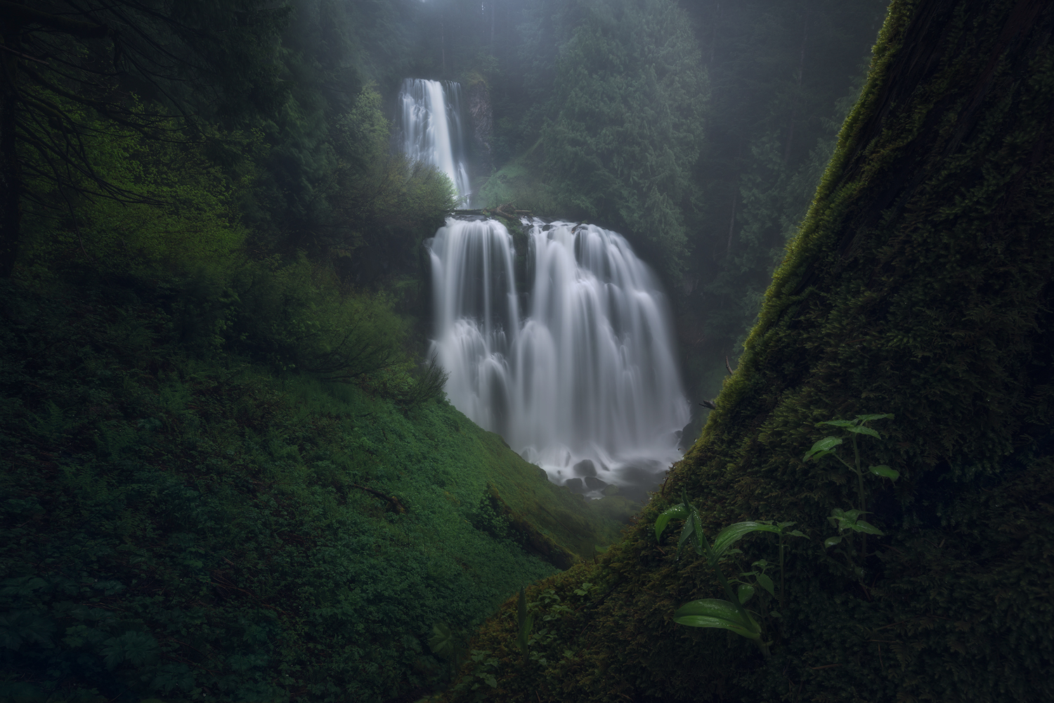 Food For The Sole, Hiking in the dark, waterfall.jpg