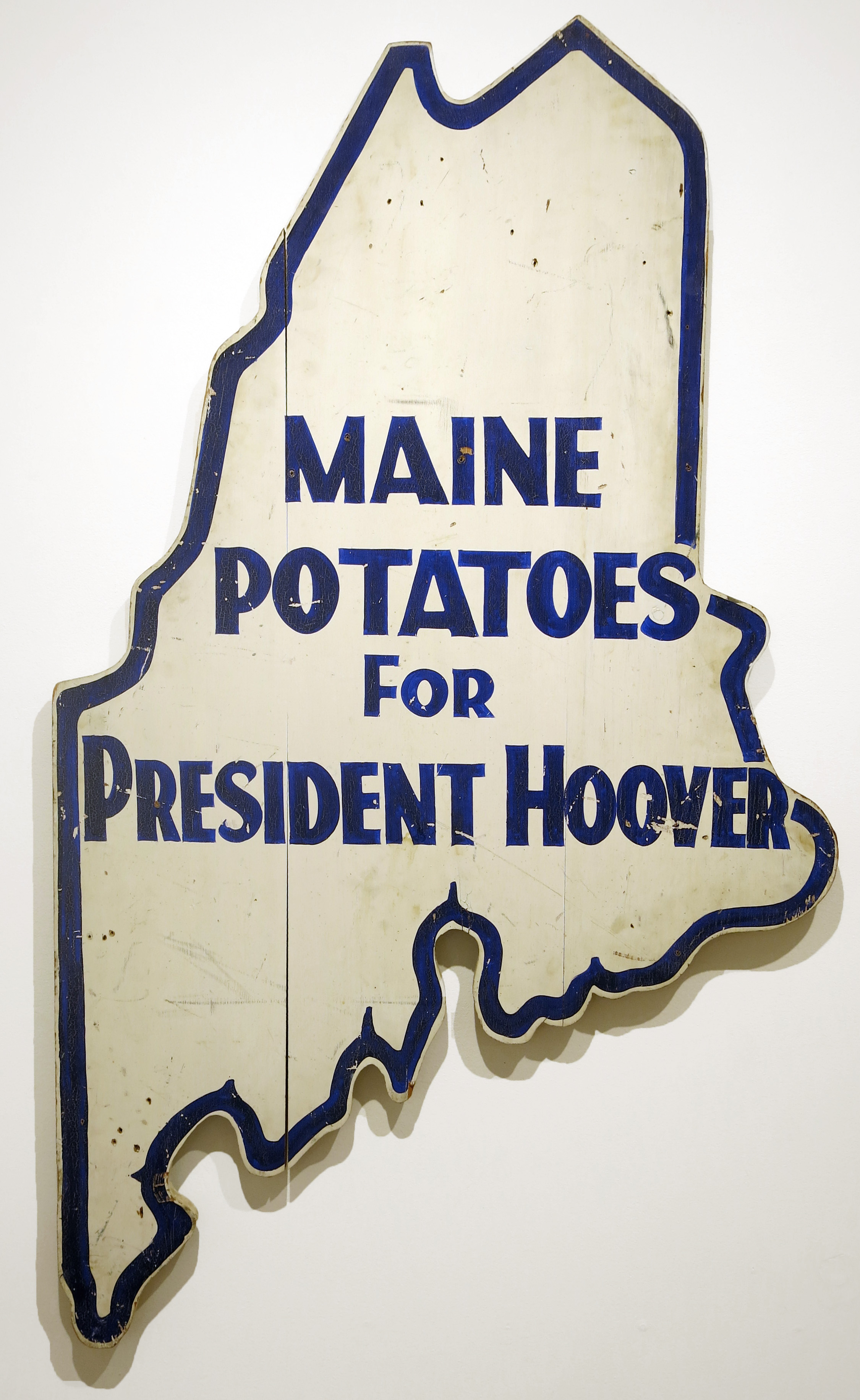 Anonymous,  Great Depression Presidential Campaign Sign,  1932, enamel on wood, 65h x 36w in.