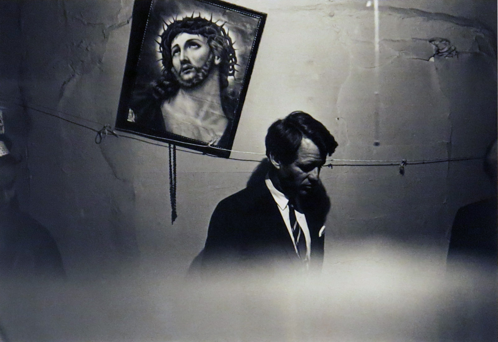 Fred W. McDarrah,  Robert F. Kennedy in Suffolk Street Apartment Once Occupied by Senator Jacob Javits , May 8, 1967, gelatin silver print, 16h x 20w in.