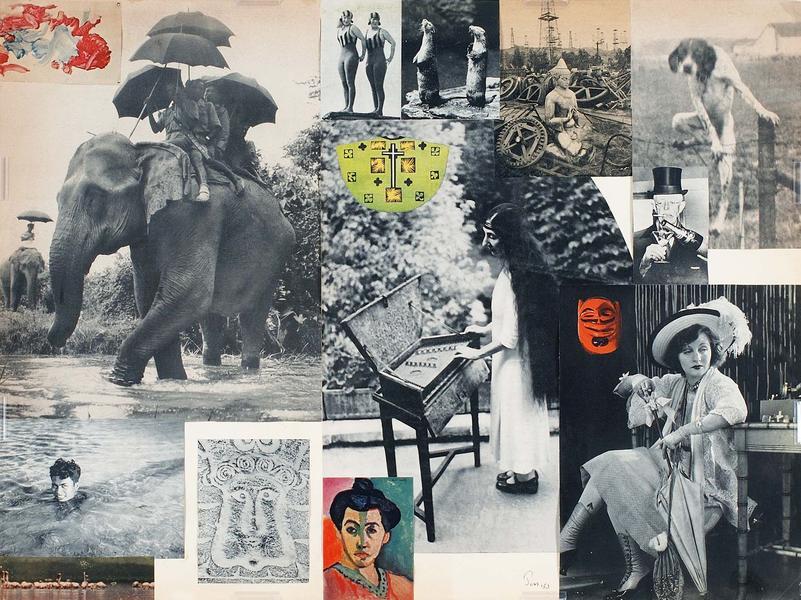 Jess (Collins),  Untitled (with Wanda Landowska),  collage, 20 1/2h x 15 1/2w in.