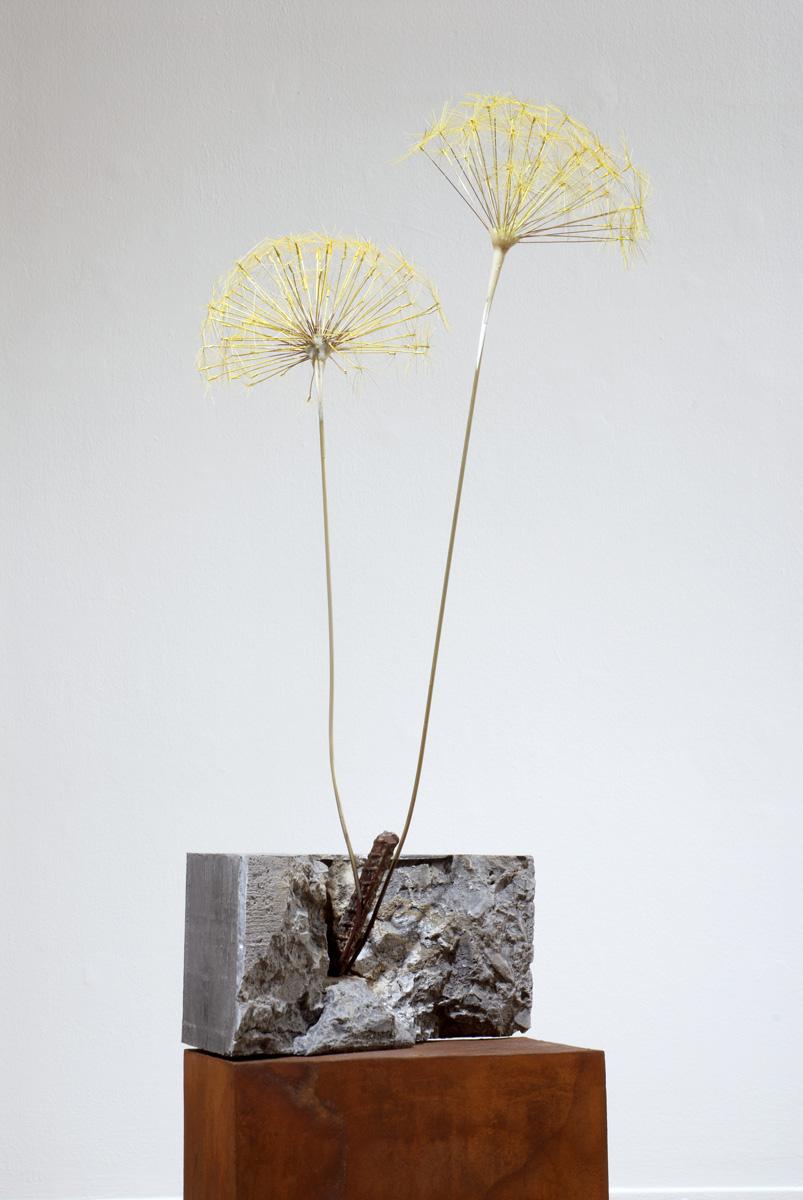 Markus Baenziger,  Dandelion,  2014, mized media, 62.5h x 12.5w x 11d in.