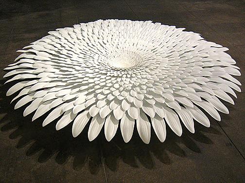 Markus Baenziger,  Forever Never,  2005, Resin, metal, wood, and fiberglass, 11h x 94 diameter in.
