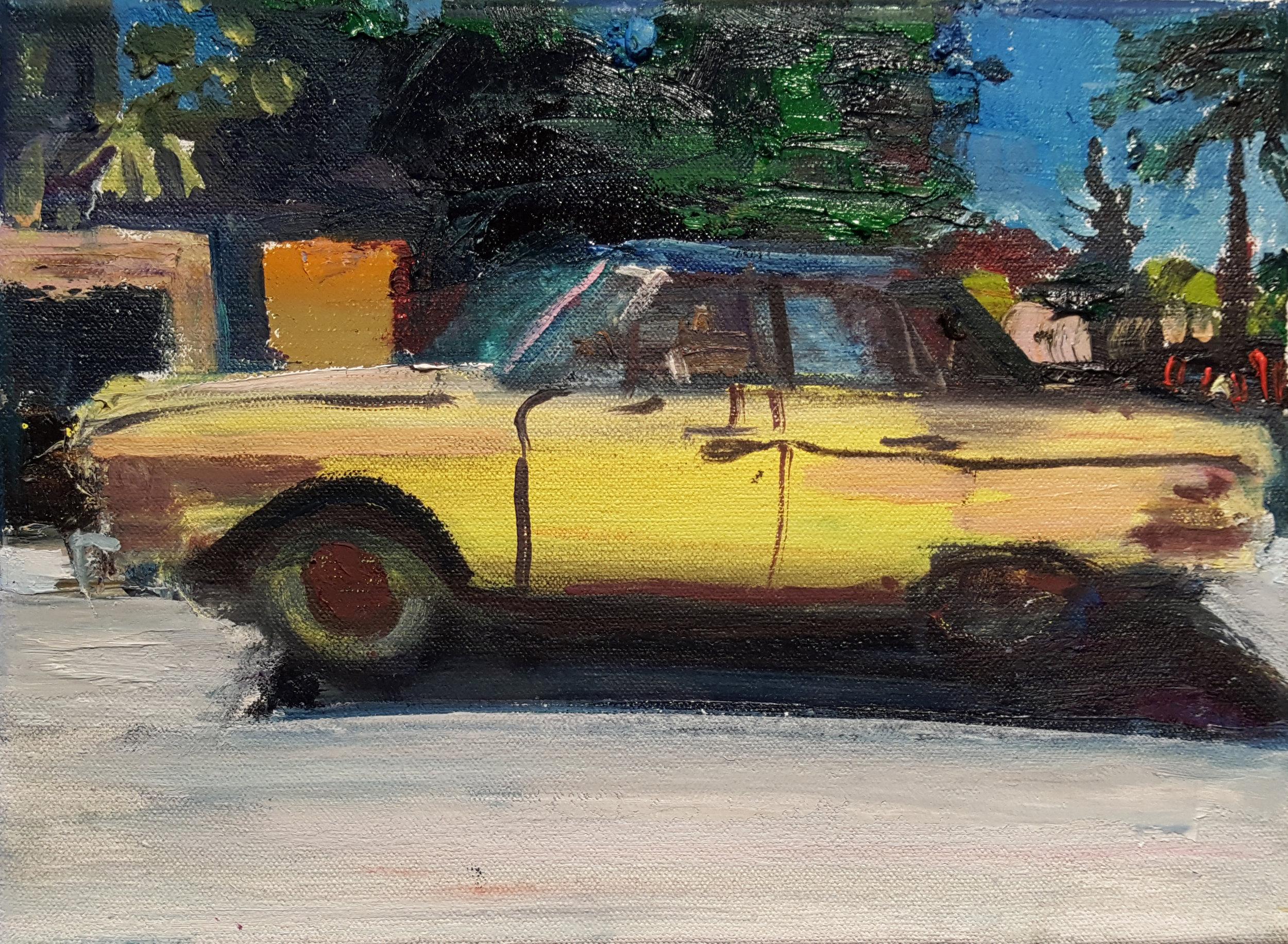 Matt Blackwell,  Falcon,  2017, Oil on canvas, 8h x 11w in.