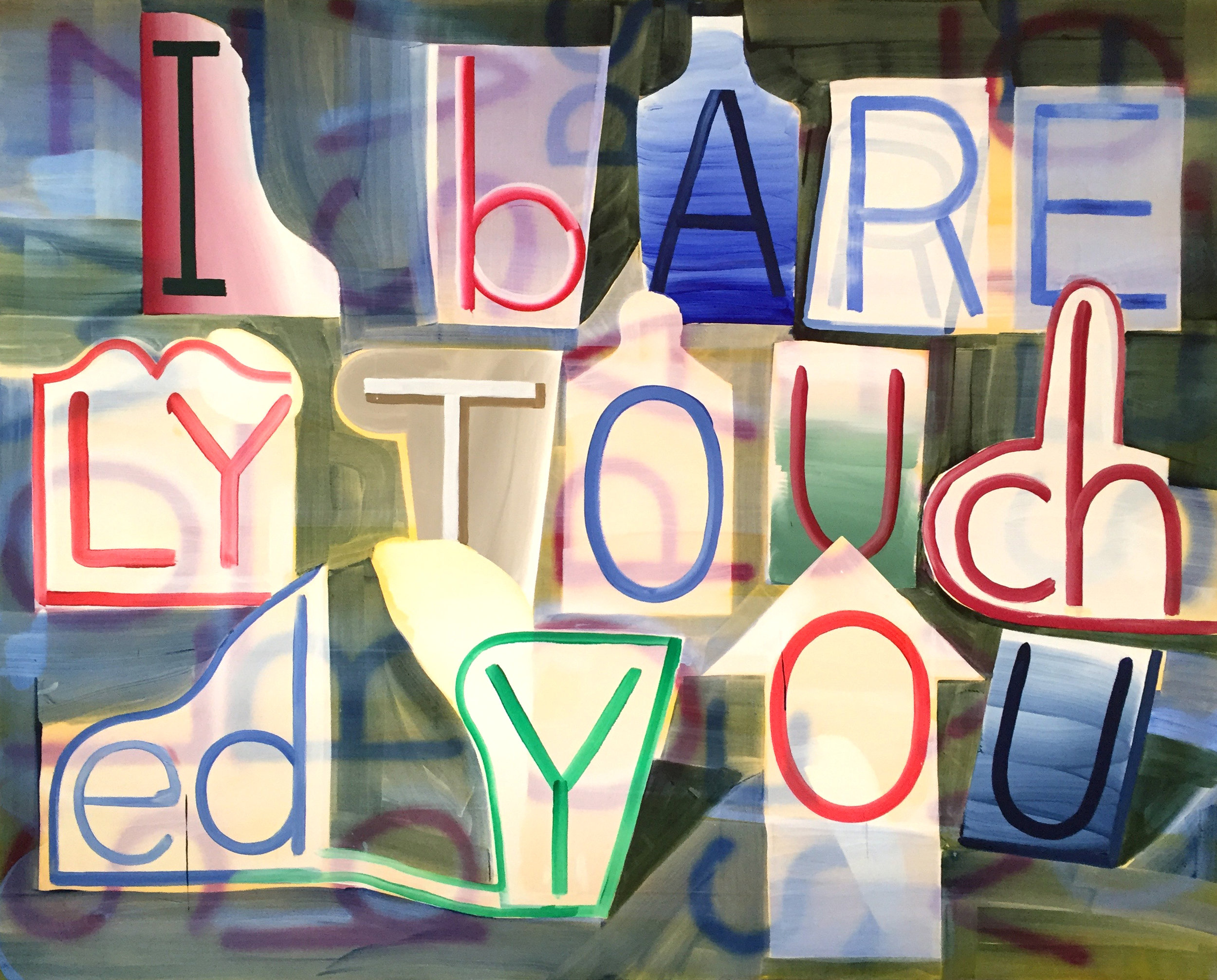 Graham Gillmore, I Barely Touched You, 2017, Acrylic on canvas, 72h x 90w in.