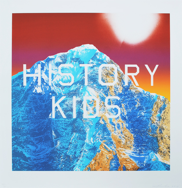 Ed Ruscha, History Kids, 2014, Lithograph, 28 3/4h x 28w in