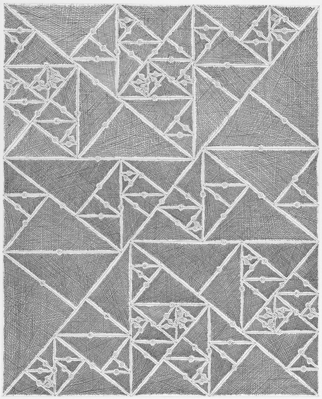 James Siena, Numbered Triangle Sequence, 2012, Hard ground and line etching, 28 1/2h x 19 1/8w in